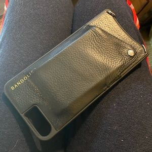 Bandolier iPhone case with strap and pocket